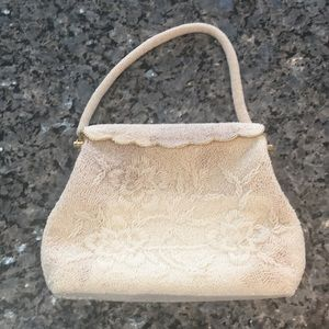 Handbags - Vintage antique handbag purse beaded white